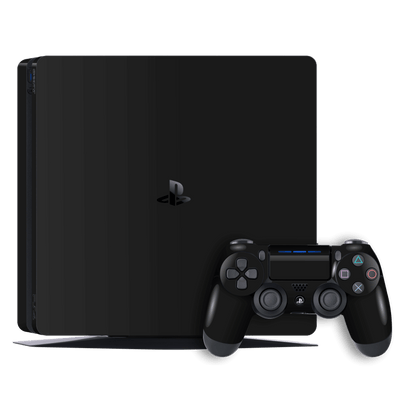 Playstation 4 SLIM PS4 Slim BLACK MATT Skin Wrap Decal by EasySkinz