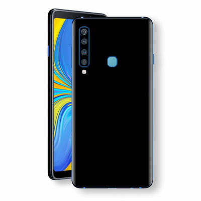 Samsung Galaxy A9 (2018) Black Glossy Gloss Finish Skin, Decal, Wrap, Protector, Cover by EasySkinz | EasySkinz.com