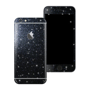 iPhone 6S Diamond BLACK Shimmering Glitter Skin Wrap Sticker Cover Decal Protector by EasySkinz