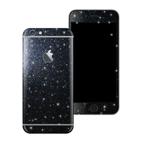 iPhone 6 Diamond BLACK Shimmering Glitter Skin Wrap Sticker Cover Decal Protector by EasySkinz