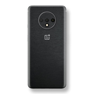 OnePlus 7T Brushed Black Metallic Metal Skin, Decal, Wrap, Protector, Cover by EasySkinz | EasySkinz.com