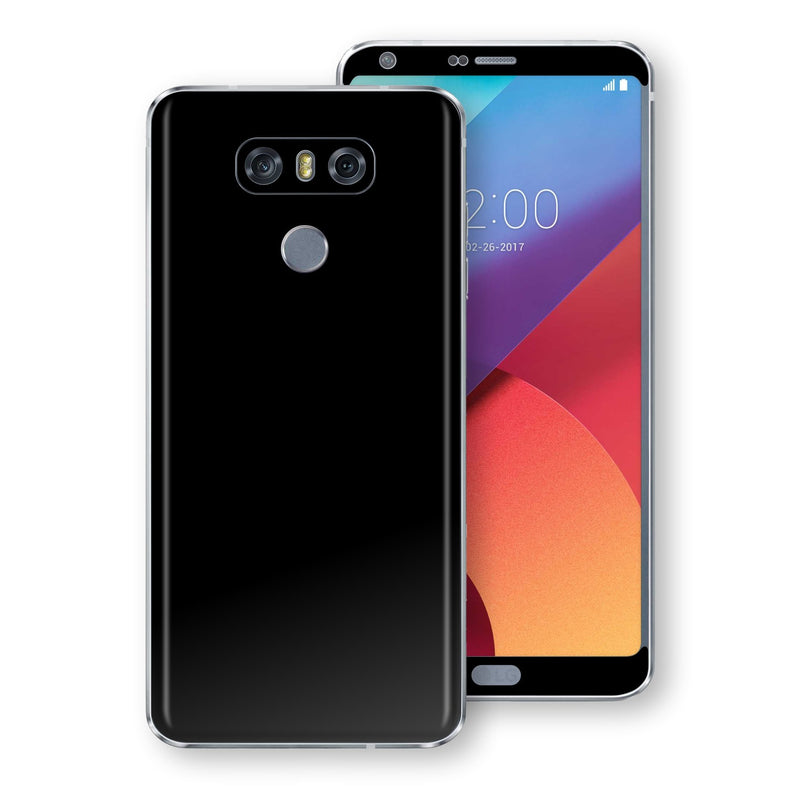 LG G6 Black Matt Skin, Decal, Wrap, Protector, Cover by EasySkinz | EasySkinz.com
