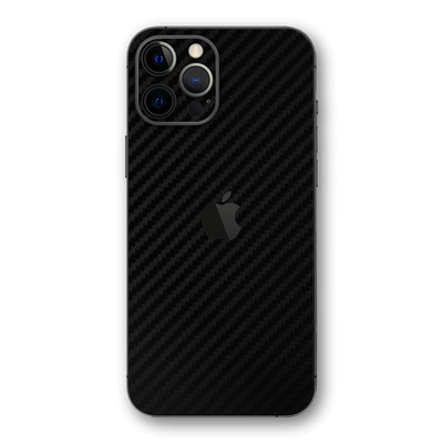 iPhone 12 PRO Black 3D Textured CARBON Fibre Fiber Skin, Wrap, Decal, Protector, Cover by EasySkinz | EasySkinz.com