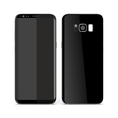 Samsung Galaxy S8 Black Glossy Gloss Finish Skin, Decal, Wrap, Protector, Cover by EasySkinz | EasySkinz.com