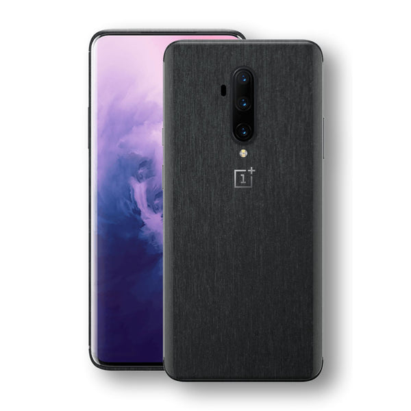 OnePlus 7T PRO Brushed Black Metallic Metal Skin, Decal, Wrap, Protector, Cover by EasySkinz | EasySkinz.com