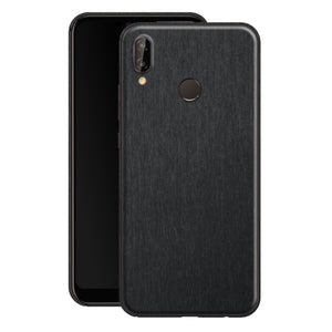 Huawei P20 LITE Brushed Black Metallic Metal Skin, Decal, Wrap, Protector, Cover by EasySkinz | EasySkinz.com