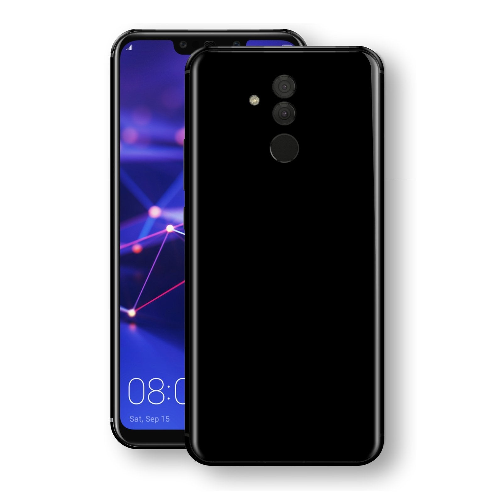 Huawei MATE 20 LITE Black Glossy Gloss Finish Skin, Decal, Wrap, Protector, Cover by EasySkinz | EasySkinz.com