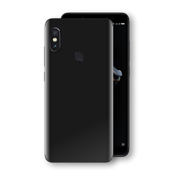 XIAOMI Redmi NOTE 5 Black Glossy Gloss Finish Skin, Decal, Wrap, Protector, Cover by EasySkinz | EasySkinz.com