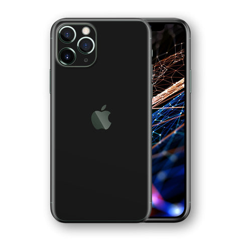iPhone 11 PRO BLACK Matt Skin Wrap Decal Protector | EasySkinz