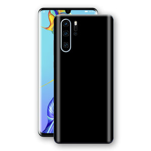 Huawei P30 PRO Black Glossy Gloss Finish Skin, Decal, Wrap, Protector, Cover by EasySkinz | EasySkinz.com