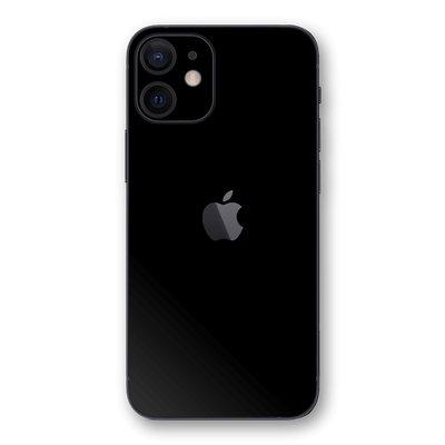 iPhone 12 BLACK Matt Skin Wrap Decal Protector | EasySkinz