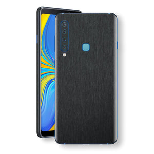 Samsung Galaxy A9 (2018) Brushed Black Metallic Metal Skin, Decal, Wrap, Protector, Cover by EasySkinz | EasySkinz.com