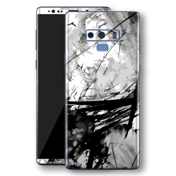 Samsung Galaxy NOTE 9 Signature ABSTRACT Black & White Skin Wrap Decal Protector | EasySkinz