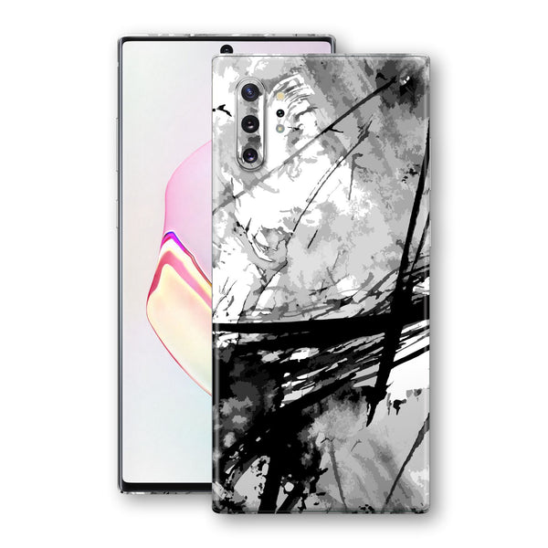 Samsung Galaxy NOTE 10+ PLUS Print Custom Signature Abstract Black & White Skin - 2  Wrap Decal by EasySkinz - Design 4