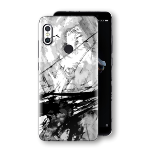 XIAOMI Redmi NOTE 5 Signature ABSTRACT Black & White Skin Wrap Decal Protector | EasySkinz