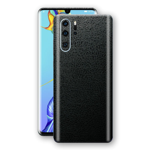 Huawei P30 PRO Luxuria BLACK Leather Skin Wrap Decal Protector | EasySkinz#