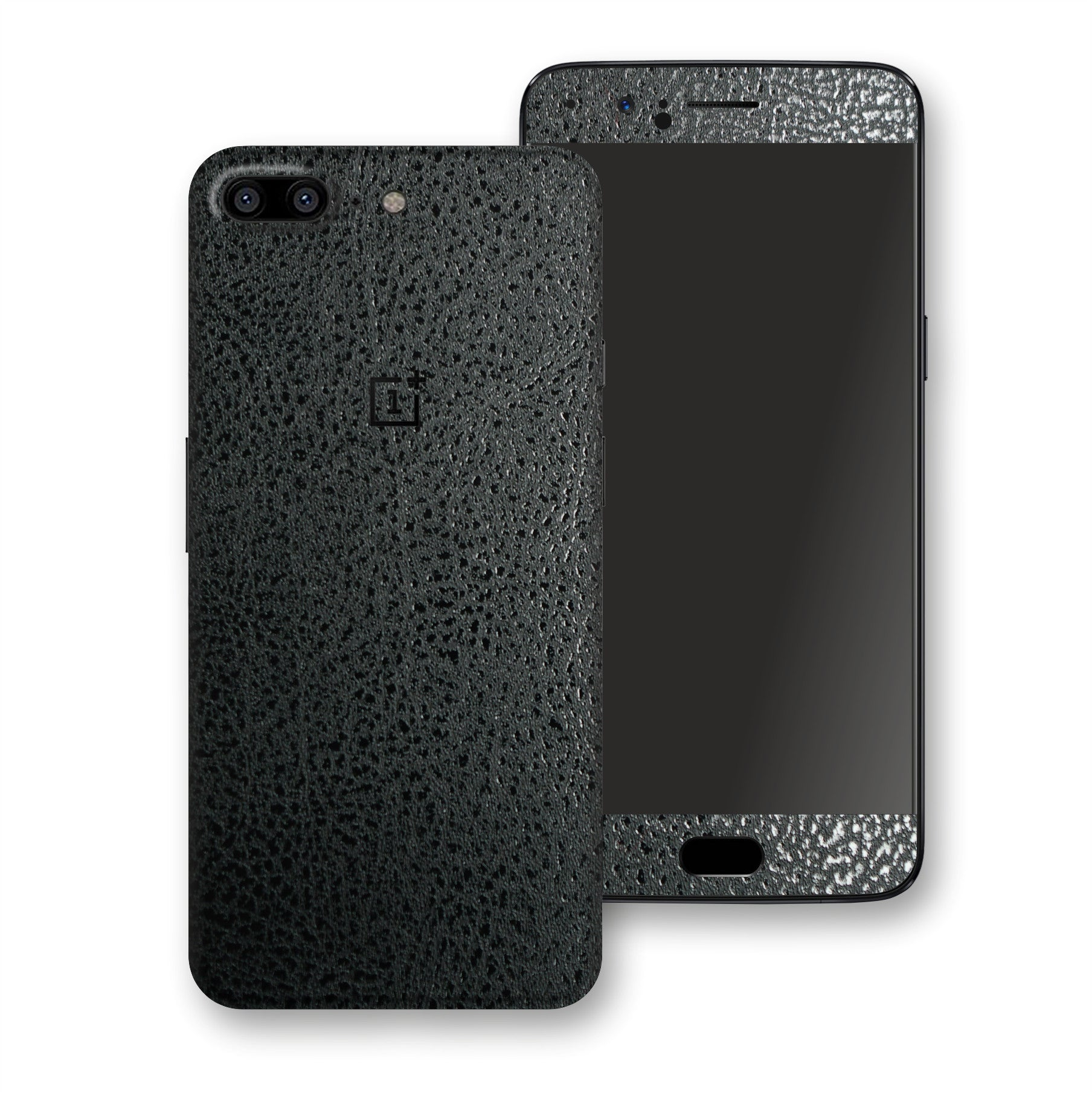 OnePlus 5 Luxuria BLACK Leather Skin Wrap Decal Protector | EasySkinz