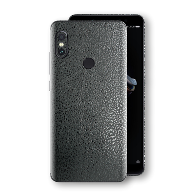 XIAOMI Redmi NOTE 5 Luxuria BLACK Leather Skin Wrap Decal Protector | EasySkinz