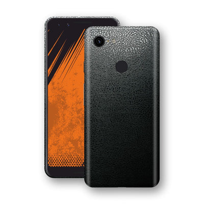 Google Pixel 3 Luxuria BLACK Leather Skin Wrap Decal Protector | EasySkinz#