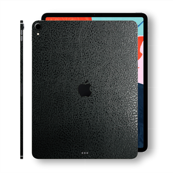 iPad PRO 11-inch 2018 Luxuria Black Leather Skin Wrap Sticker Decal Cover Protector by EasySkinz