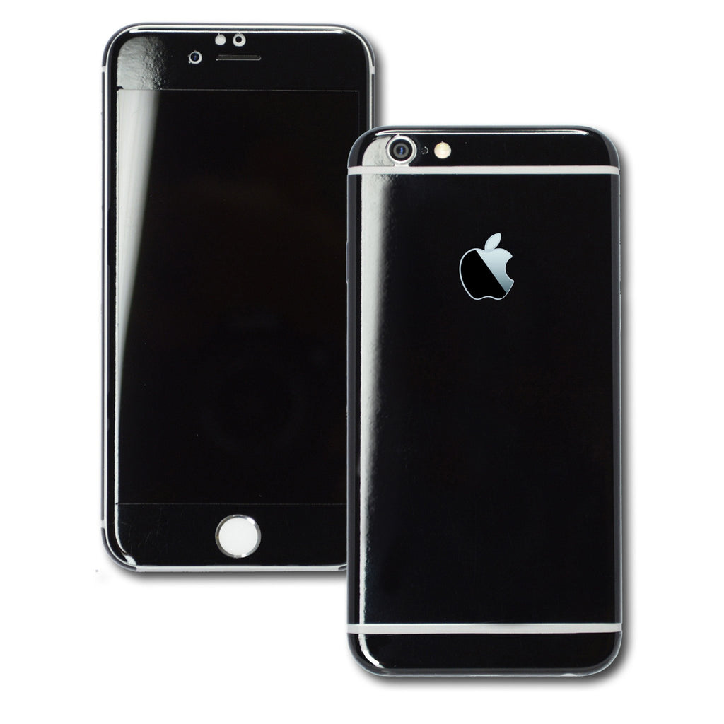 iphone 6s glossy black skin wrap decal easyskinz. Black Bedroom Furniture Sets. Home Design Ideas