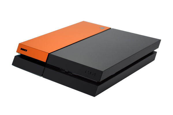ps4 black and orange matt skin
