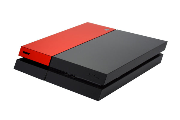 ps4 black and red matt skin