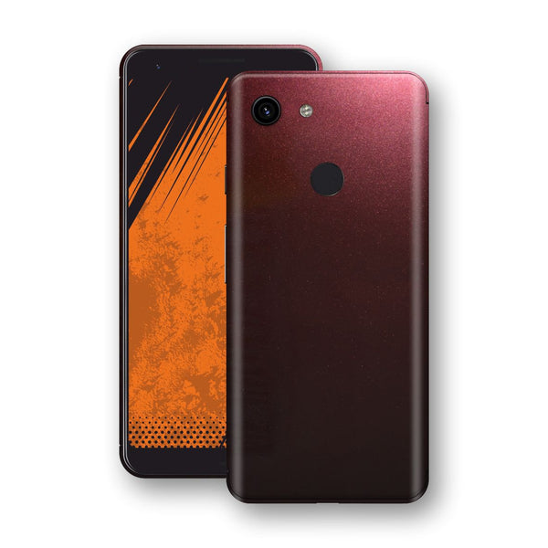 Google Pixel 3a Black Rose Glossy Metallic Skin, Decal, Wrap, Protector, Cover by EasySkinz | EasySkinz.com