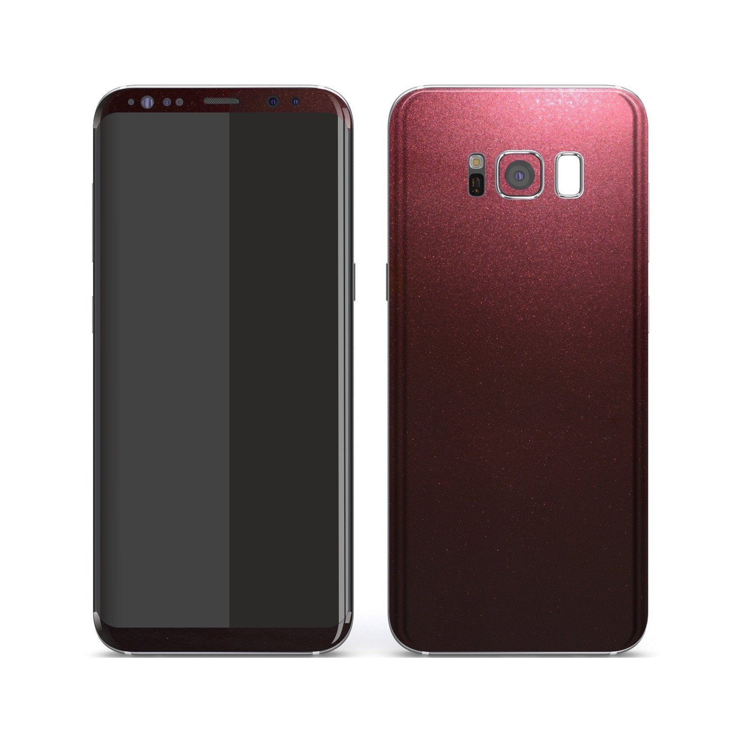 Samsung Galaxy S8+ Black Rose Glossy Metallic Skin, Decal, Wrap, Protector, Cover by EasySkinz | EasySkinz.com
