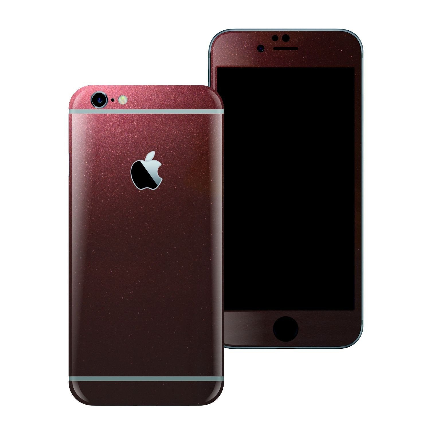 iPhone 6 Plus 3M Gloss Black Rose Metallic Skin Wrap Sticker Cover Protector Decal by EasySkinz