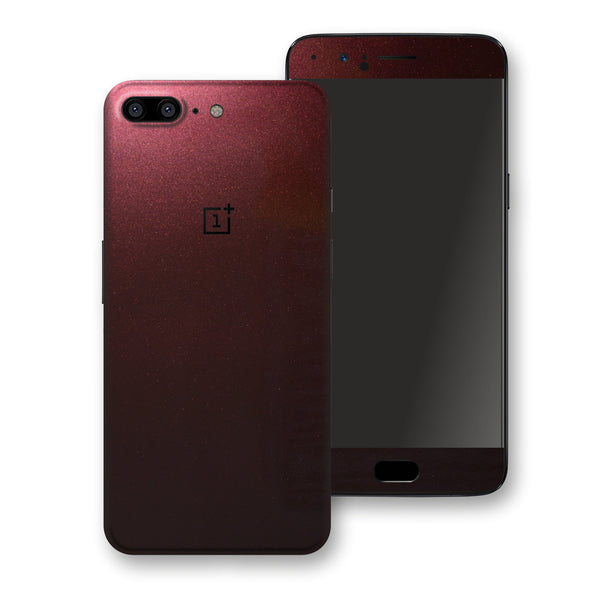 OnePlus 5 Black Rose Glossy Metallic Skin, Decal, Wrap, Protector, Cover by EasySkinz | EasySkinz.com
