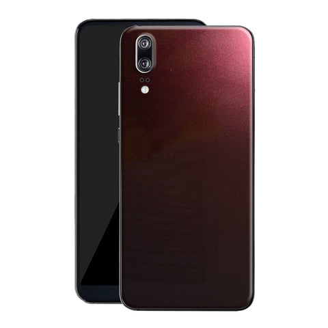 Huawei P20 Black Rose Glossy Metallic Skin, Decal, Wrap, Protector, Cover by EasySkinz | EasySkinz.com
