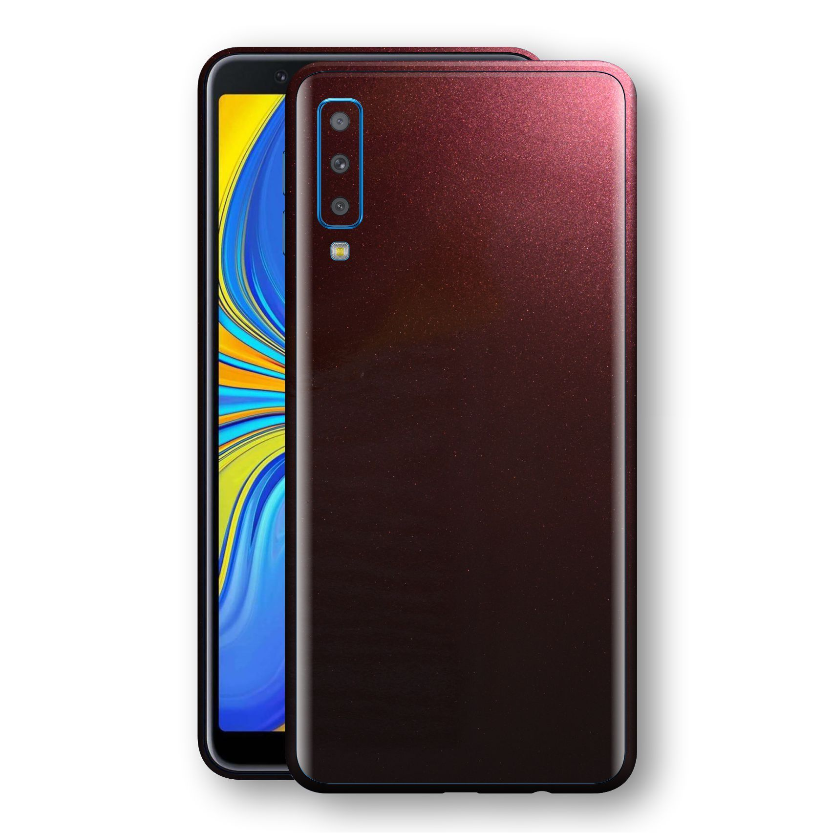 Samsung Galaxy A7 (2018) Black Rose Glossy Metallic Skin, Decal, Wrap, Protector, Cover by EasySkinz | EasySkinz.com
