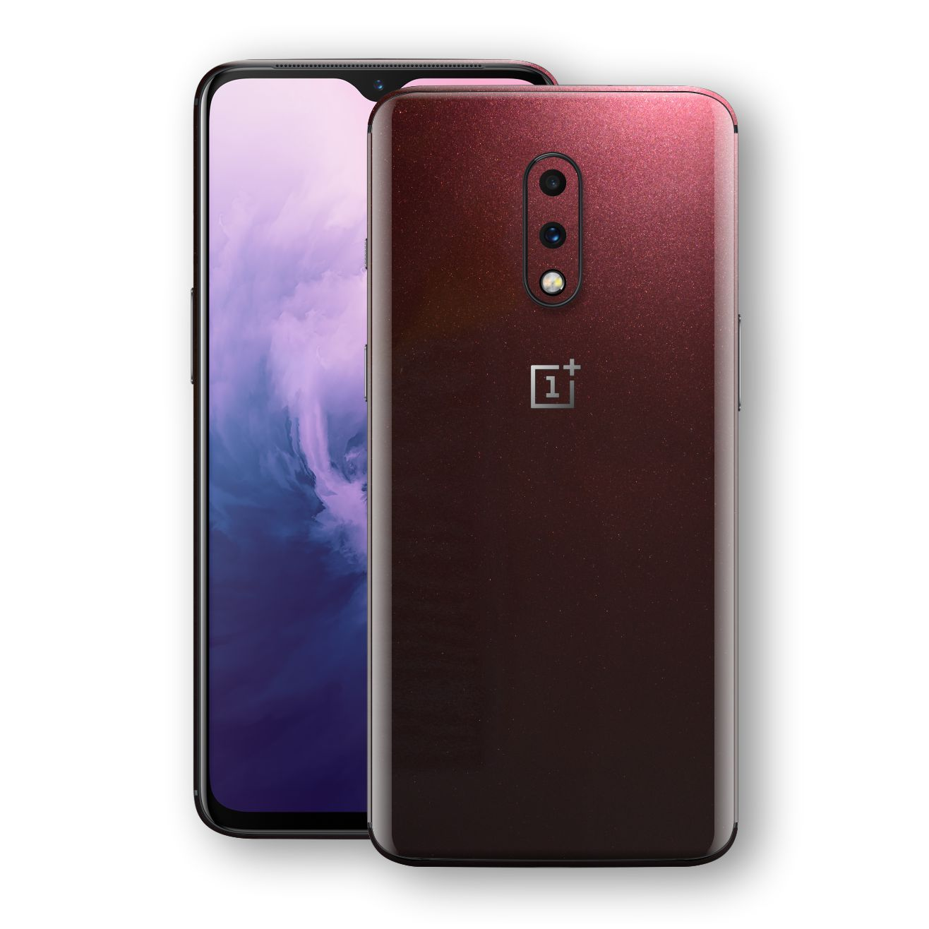 OnePlus 7 Black Rose Glossy Metallic Skin, Decal, Wrap, Protector, Cover by EasySkinz | EasySkinz.com