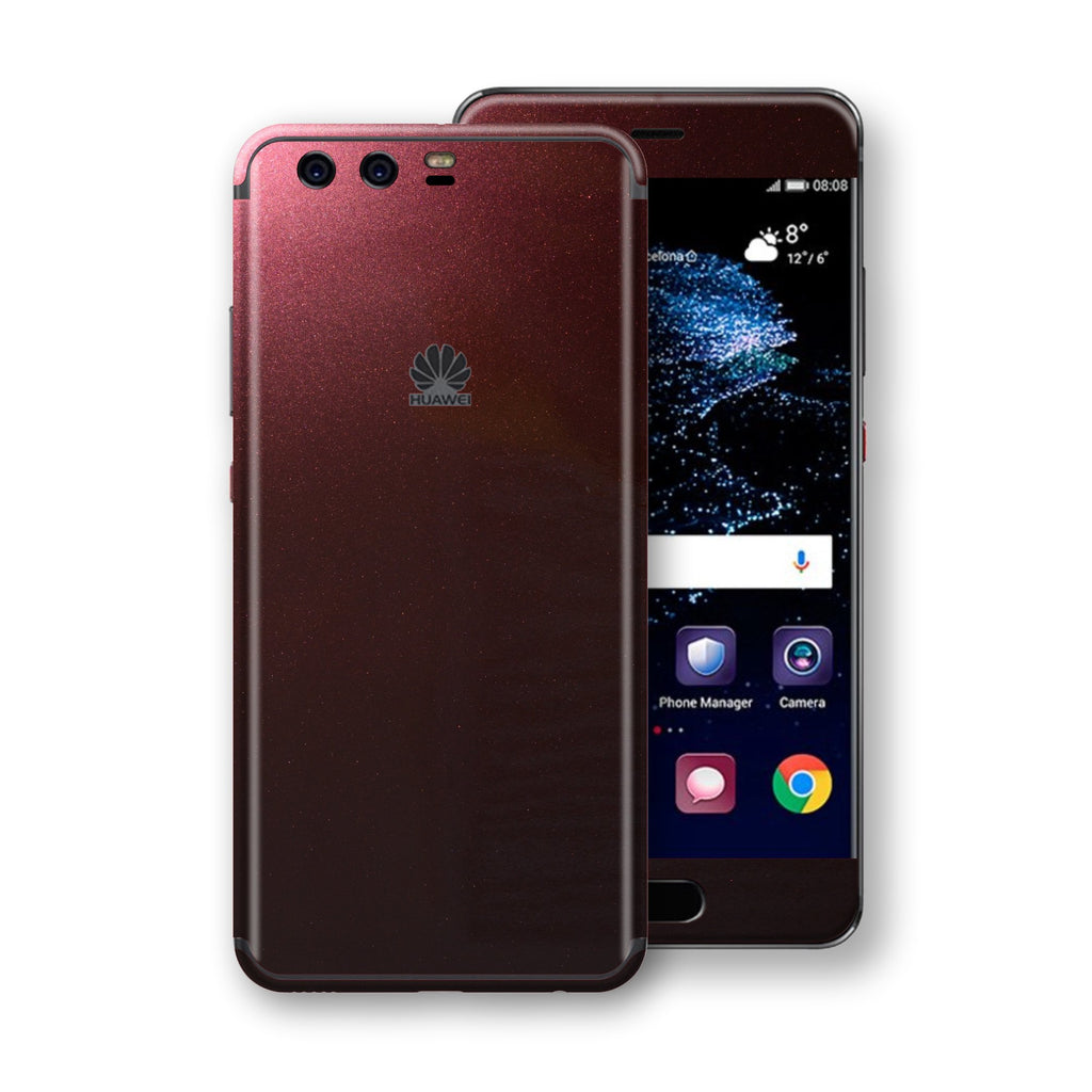 Huawei P10  Black Rose Glossy Metallic Skin, Decal, Wrap, Protector, Cover by EasySkinz | EasySkinz.com