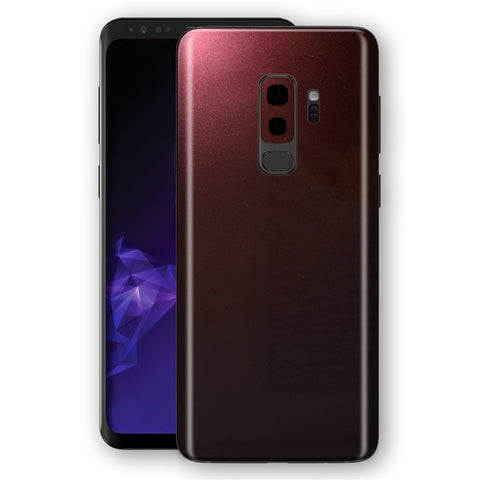 Samsung GALAXY S9+ PLUS Black Rose Glossy Metallic Skin, Decal, Wrap, Protector, Cover by EasySkinz | EasySkinz.com