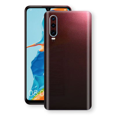 Huawei P30 Black Rose Glossy Metallic Skin, Decal, Wrap, Protector, Cover by EasySkinz | EasySkinz.com