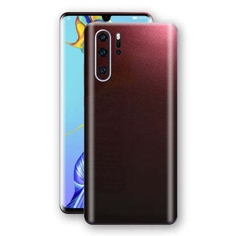 Huawei P30 PRO Black Rose Glossy Metallic Skin, Decal, Wrap, Protector, Cover by EasySkinz | EasySkinz.com