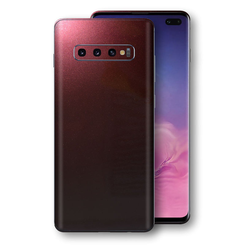 Samsung Galaxy S10+ PLUS Black Rose Glossy Metallic Skin, Decal, Wrap, Protector, Cover by EasySkinz | EasySkinz.com