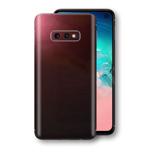 Samsung Galaxy S10e Black Rose Glossy Metallic Skin, Decal, Wrap, Protector, Cover by EasySkinz | EasySkinz.com
