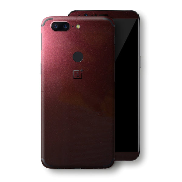 OnePlus 5T Black Rose Glossy Metallic Skin, Decal, Wrap, Protector, Cover by EasySkinz | EasySkinz.com