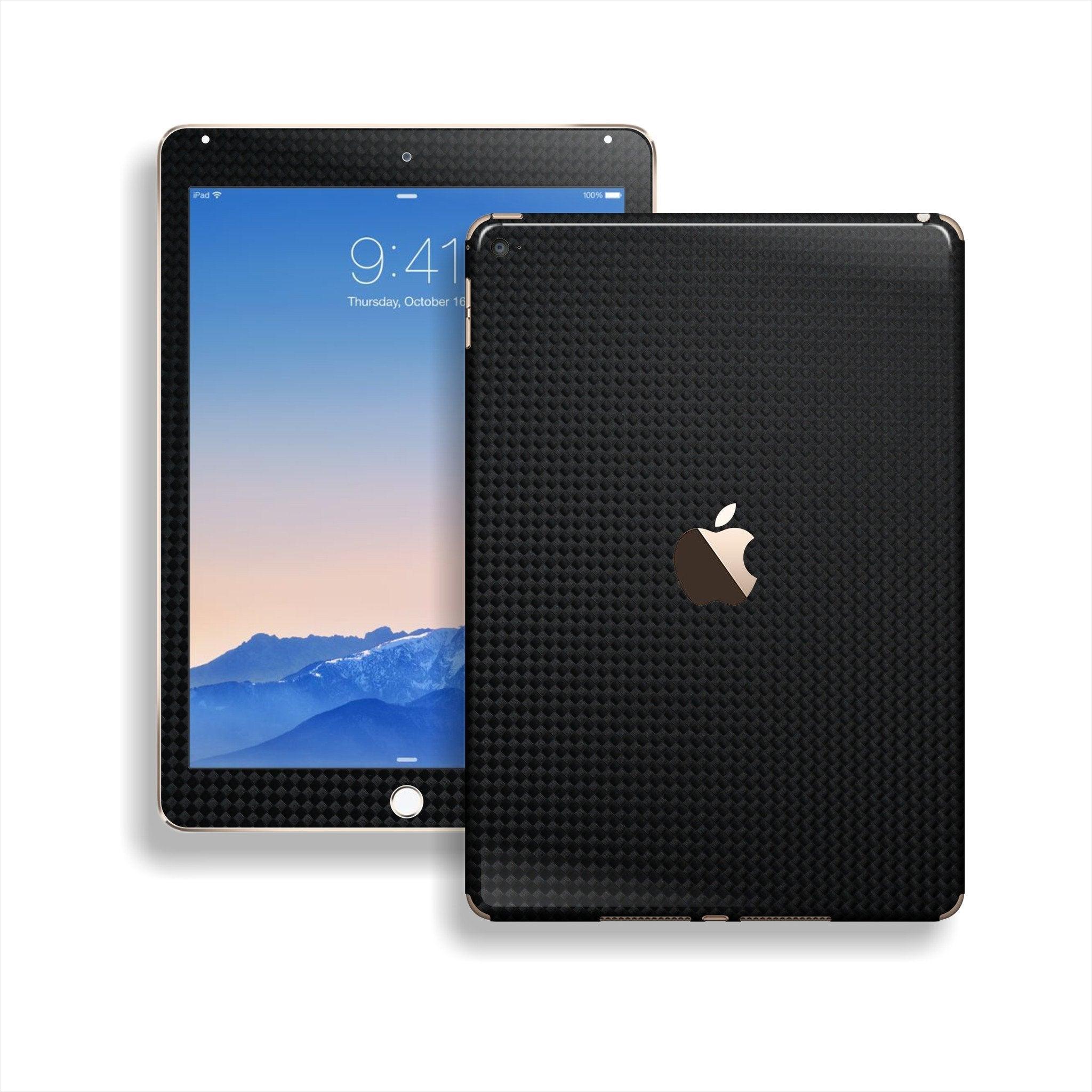 iPad Air 2 Square Black CARBON Fibre Fiber Skin Wrap Sticker Decal Cover Protector by EasySkinz