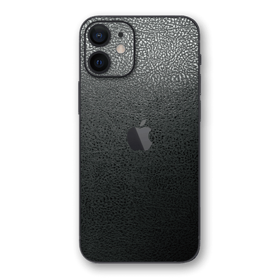 iPhone 12 Luxuria Black Leather Skin Wrap Decal Protector | EasySkinz