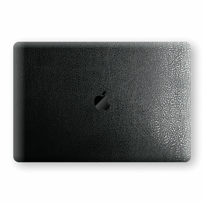 "MacBook PRO 16"" (2019) Luxuria BLACK Leather Skin Wrap Decal Protector 