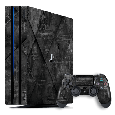Playstation 4 PRO PS4 PRO Print Custom Signature Black Tiles Stone Skin Wrap Decal by EasySkinz