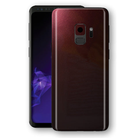 Samsung GALAXY S9 Black Rose Glossy Metallic Skin, Decal, Wrap, Protector, Cover by EasySkinz | EasySkinz.com