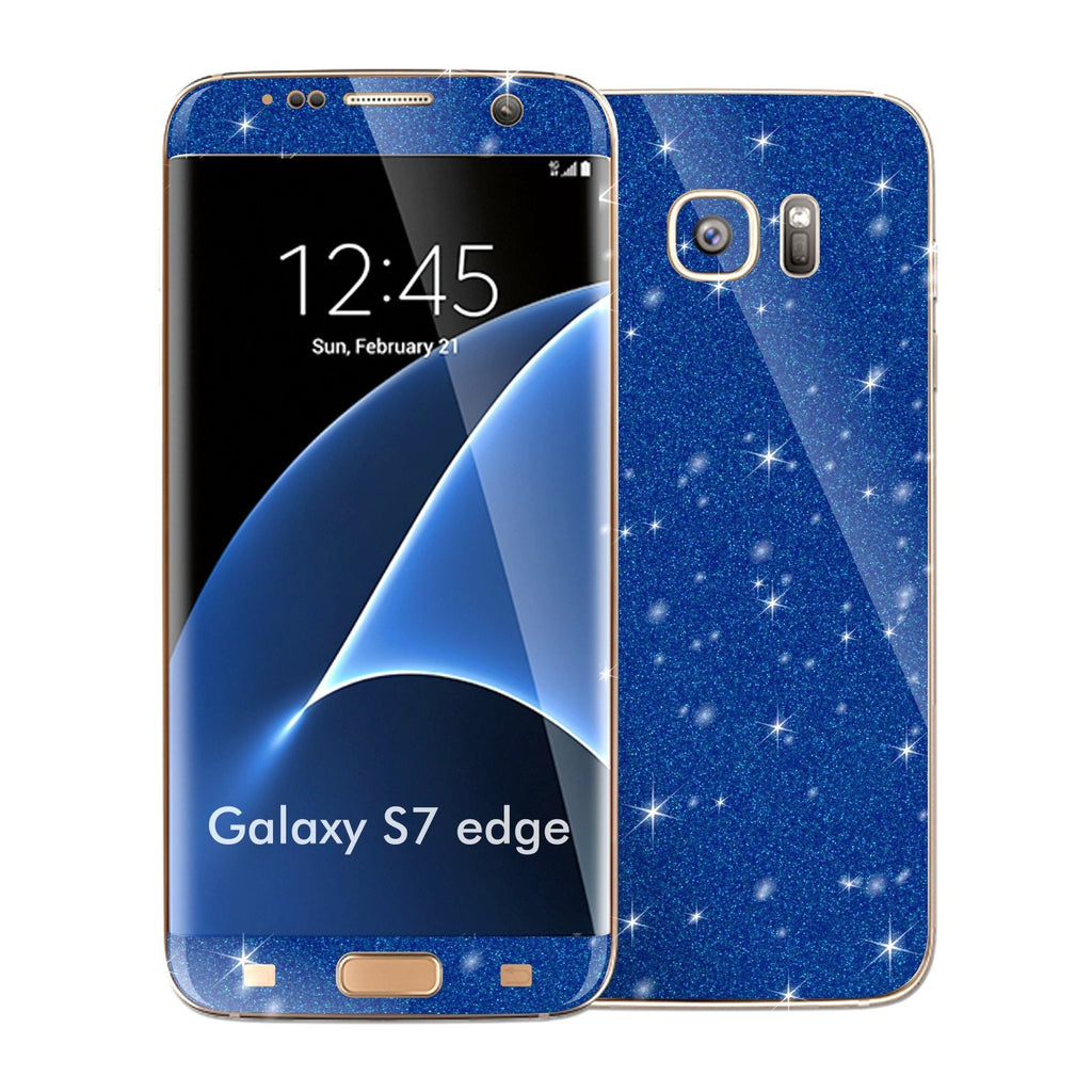 Samsung Galaxy S7 EDGE DIAMOND BLUE Skin Wrap Decal Sticker Cover Protector by EasySkinz