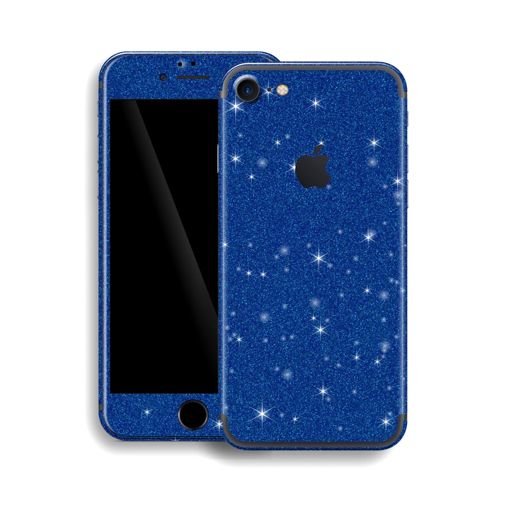 iPhone 7 Diamond BLUE Shimmering, Sparkling, Glitter Skin, Wrap, Decal, Protector, Cover by EasySkinz | EasySkinz.com