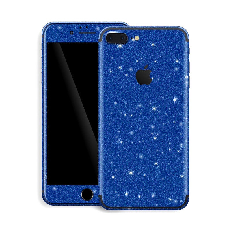 iPhone 7 Plus Diamond Blue Shimmering, Sparkling, Glitter Skin, Decal, Wrap, Protector, Cover by EasySkinz | EasySkinz.com