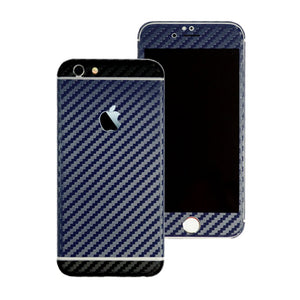 iPhone 6S Two Tone Navy Blue and Black Carbon Fibre Skin Sticker Wrap Cover Decal Protector by EasySkinz